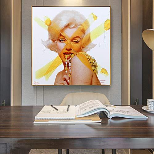 TBWPTS Wandmalerei Leinwand Gemälde Andy Warhol Marilyn Monroe Bilder Poster Wand Kunst Malerei Drucke Auf Leinwand Cuadros Förderung Keine Rahmen Drucke Für Wohnzimmer