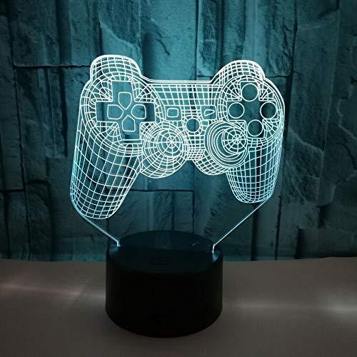 3D-Nachtlicht, Kinder-Nachttisch-Gamepad-Illusionslampen, Smart Touch, 7 Farbwechsel, optische Illusion, Nachtlicht, cooles Geschenk für Mädchen und Jungen