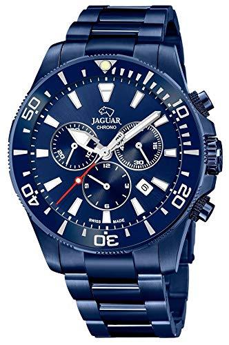 JAGUAR Reloj Modelo J897/1 de la colección Executive, Caja de 43,5 mm Correa de Acero Azul para Caballero