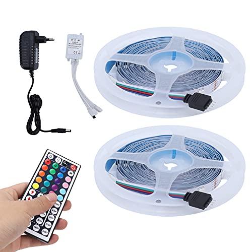 Luces de Cinta Flexible, 6 Modos dinámicos 17 Colores de luz Tira de Luces LED de 10 m Luz autoadhesiva Fuerte para Dormitorio, Sala de Estar, Fiesta, gabinete