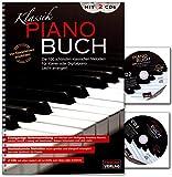 Klassik Piano Buch mit 2 CDs - eine wunderbare Sammlung der 100 beliebtesten und schönsten klassischen Melodien für Klavier - Notenbuch...