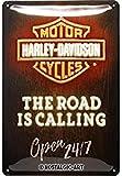 Nostalgic-Art Retro Blechschild, Harley-Davidson – Road