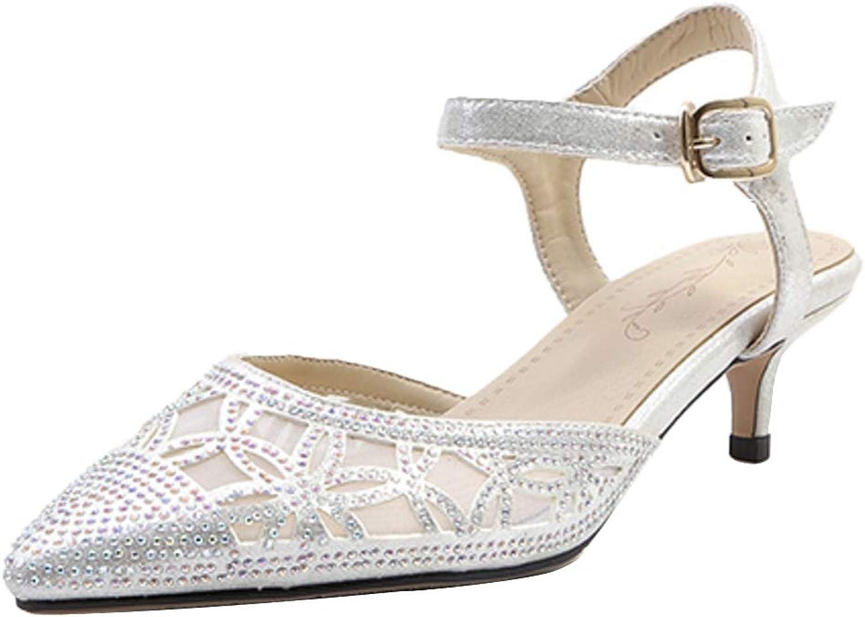 CularAcci Women Fashion Cone Heel Sandals