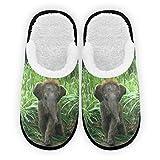 Elefant Baby Herren Damen Hausschuhe Plüsch Futter Komfort Warm Coral Fleece Winter Hausschuhe für Indoor Outdoor Spa