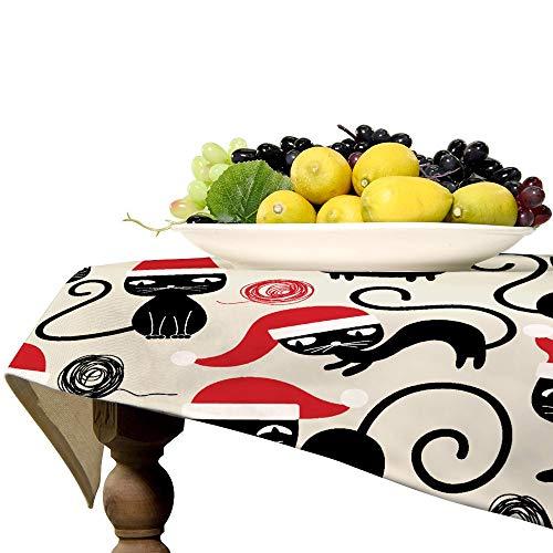 Mantel cuadrado de lino para mesa de cocina, comedor, decoración de mesa, 53 x 53 pulgadas
