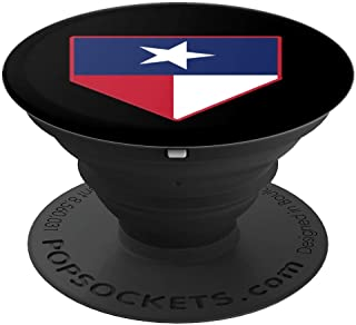 Texas Baseball Home Plate Lone Star State Flag Catcher Gift PopSockets Grip and Stand for Phones and Tablets