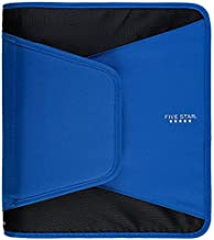 Five Star Zipper Binder, 1-1/2 Inch 3 Ring Binder, 3-Pocket Expanding File, Durable, Blue (72202)