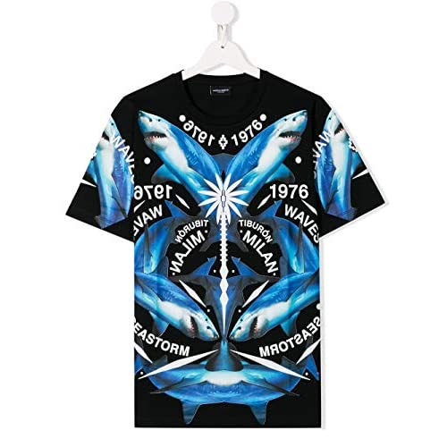 MARCELO BURLON Luxury Fashion Ragazzo 11180010B010 Nero Cotone T-Shirt | Autunno-Inverno 20
