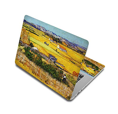Oil painting style portable vinyl stickers for laptop 11'12'14'15'17' skin notebook sticker for hp/xiaom pro 13.3/asus/mac air-laptop skin 1-17 inch(41.5 x 29cm)
