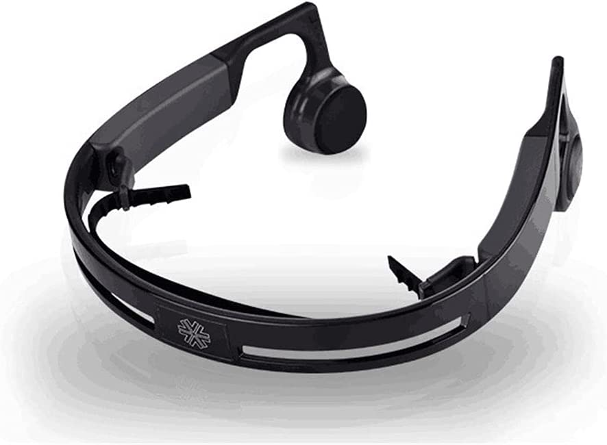 XJPB Bone Conduction Headphones Wireless Bluetooth 4.2 Open Ear Sports Earphones with Microphone Waterproof for Running Sports Fitness