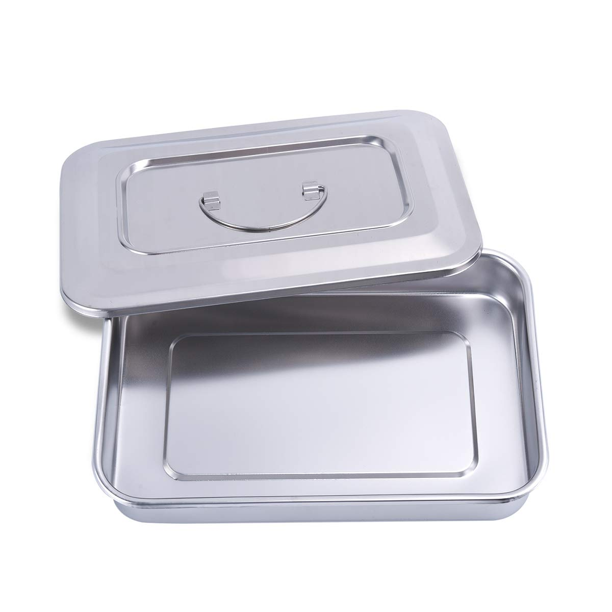 iplusmile 1 Set Medical Tray Stainless Steel Instrument Tray Surgical Tray for Doctor Nurse Hospital Medical Use