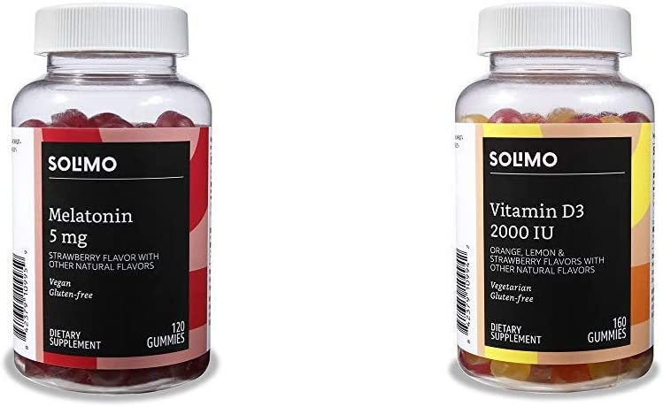 Amazon Brand - Solimo Genuine Melatonin 2 120 Gummies 35% OFF 5mg per