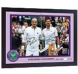 SGH SERVICES Gerahmtes Poster Roger Federer Novak Djokovic