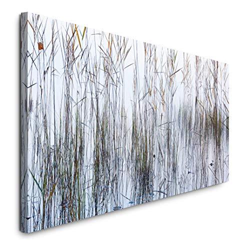 Paul Sinus Art GmbH Natur Nebel Hintergrund 120x 50cm Panorama Leinwand Bild XXL Format Wandbilder Wohnzimmer Wohnung Deko Kunstdrucke