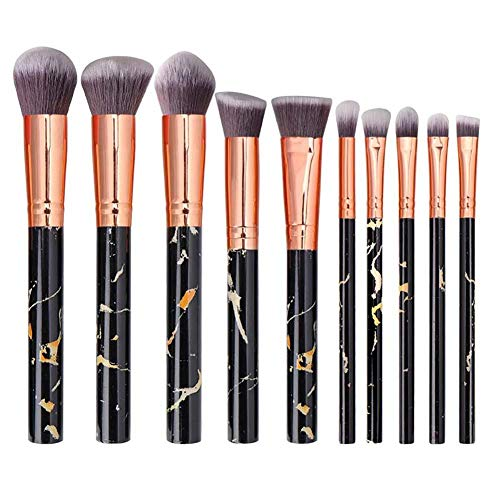TREESTAR 10 Pièces Faciale Pinceau de beauté Costume Brosse de fondation Pinceau de maquillage Pinceau de beauté Professionnel Multifonctionnel Outils de maquillage