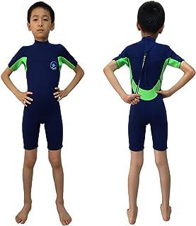 بدلة سباحة قصيرة من ريالون للأطفال 3 مم للأولاد لركوب الأمواج والغوص بدلة رطبة 2 مم ملابس سباحة للبنات