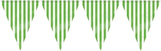 Unique Stripes Flag Banner Flag Banner, Lime Green