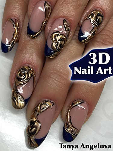 """3D Nail Art: How To Create 3d \""""Golden Rose\"""" Decorations Quick and Easy? [OV]"""