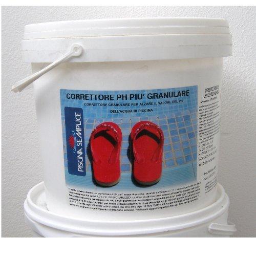 Lapi - 5 kg Correttore PH più Granulare. per Regolare I Valori di PH Troppo Bassi dell'Acqua Piscina. Prodotto da Azienda Italiana certificata