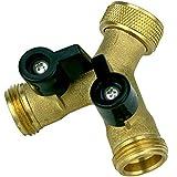 Filtrotech Raccord en Y pour tuyaux d'arrivée d'eau avec robinet d'arrêt 2 voies pour lave-vaisselle ou machine à laver