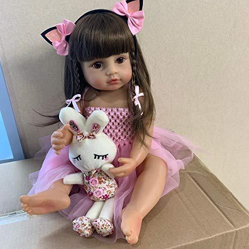 Zero Pam muñecas Reborn Silicona de Cuerpo Completo 22 Pulgadas 55 cm Juguetes anatómicamente correctos para bebés recién Nacidos con Conejito
