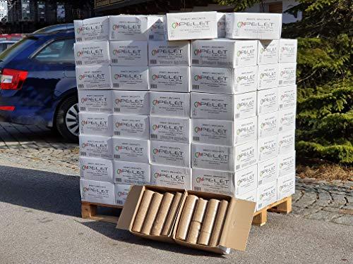 10kg - 120kg Holzbriketts Nestro im 10kg Karton Holz Briketts Rund Kamin Ofen Heiz Brikett Brennholz Holz Heizbrikett 8-96 Briketts   Energie Kienbacher (120)