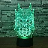Fantasma máscara luz Colorido gradiente atmósfera lámpara de Mesa Dormitorio de los niños decoración del hogar iluminación Noche luz Regalo Goteo Barco