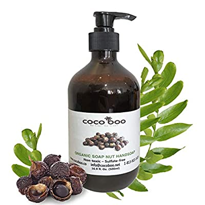 COCOBOO - Soap Nut Liquid Hand Soap, Organic, Non-toxic, Nut-Allergy Safe, 17 Oz