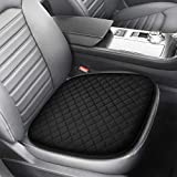 Tsumbay Memory Foam Seat Cushion Linen Car Seat Cushion Pad Unique Rhonmbic Design Seat Mat for Home Use Car Driver Seat Office Chair Pain Relief Seat Cushion Non Slip Bottom Comfort Seat Protector