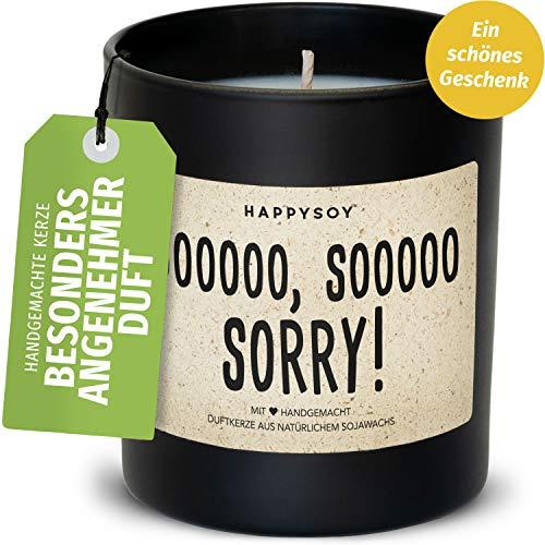 Sorry Tschuldige Duftkerze im Glas mit Spruch aus Soja - 100% natürlich handgemacht vegan - nachhaltig persönlich Geschenk Geschenkidee Freund Freundin - Versöhnungsgeschenk Verzeihung Entschuldigung