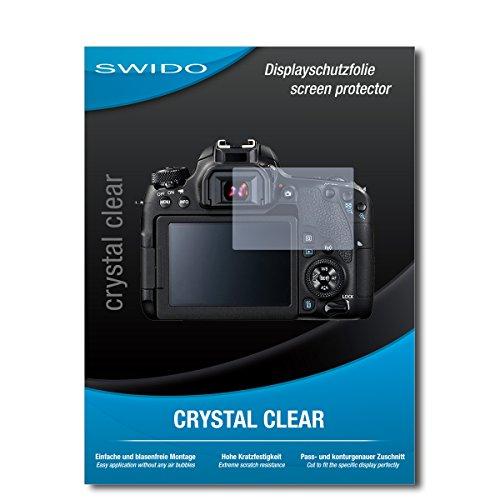 SWIDO Schutzfolie für Canon EOS 77D [2 Stück] Kristall-Klar, Hoher Härtegrad, Schutz vor Öl, Staub und Kratzer/Glasfolie, Displayschutz, Displayschutzfolie, Panzerglas-Folie