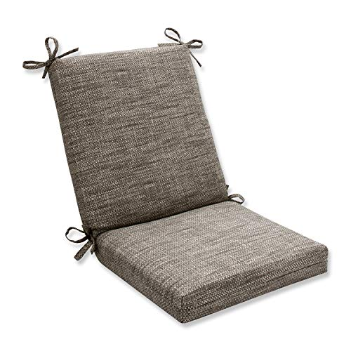 Pillow Perfect Outdoor/Indoor Remi Patina Square Corner Chair Cushion, 36.5' x 18', Gray
