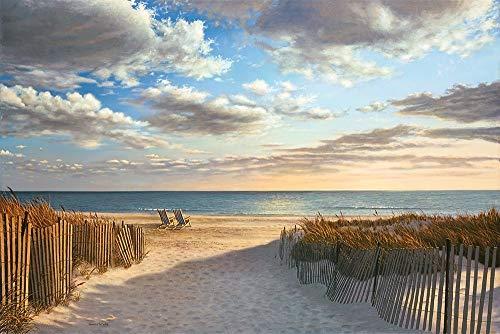 Feeling at home Imagen sobre Lienzo con Caja Americana Sunset Beach Pollera Impresion enmarcada con Marco Costero Horizontal 73_X_110cm