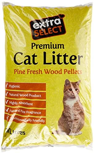 Extra Select Premium Wood Based Cat Litter, 30 L