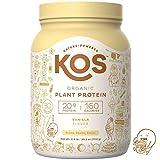 KOS Organic Plant Based Protein Powder – Raw Organic Vegan Protein Blend, 2.5 Pound, 30 Servings (Vanilla)