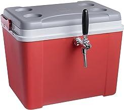 Chopeira a gelo caixa 34l para barril heineken 5l - vermelha com torneira italiana