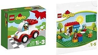 レゴ(LEGO) デュプロ はじめてのデュプロ(R) レースカー 10860 & デュプロ 基礎板(緑) 2304