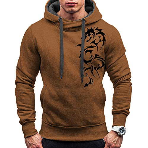 DNOQN Coole Shirts Herren Langarmshirt Herren Gedruckt Schlank Gedruckt Pullover...