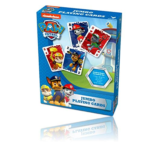Jumbo Card Games for Kids (Paw Patrol Games Jumbo Playing Cards)