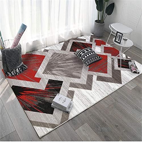 Alfombra alfombras Juveniles La Alfombra geométrica Gris Negra roja Antideslizante no se desvanece la Sala de Estar Alfombra Salon alfombras de baño 60*90cm