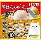 いなば 猫用おやつ 贅沢ぽんちゅ~る とりささみバラエティ 35グラム (x 10)
