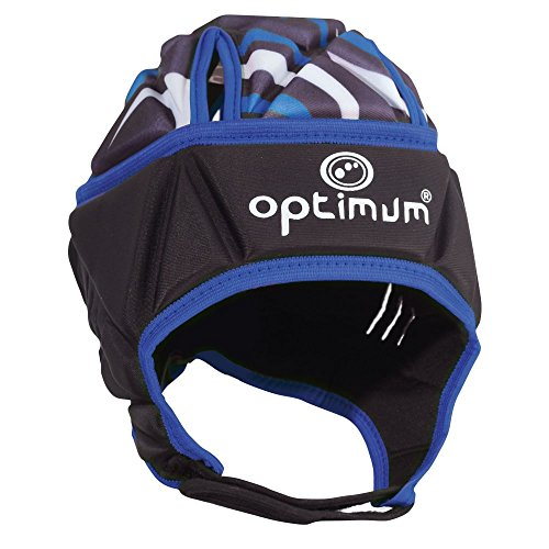 OPTIMUM Razor Headguard Casco, Unisex-Adult, Negro/Azul, Medium