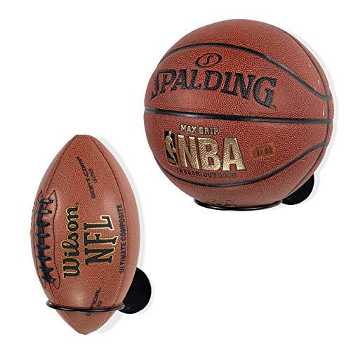 Wallniture Palla Ball-Organizer und Ablage für Fußball & Basketbälle, Metall, Schwarz, 2 Stück