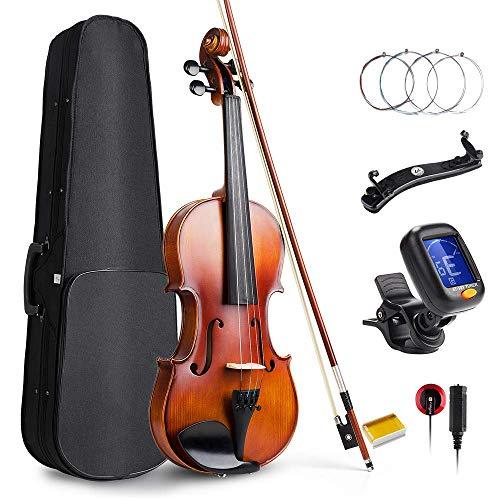 Vangoa Violino 4/4 Concerto con custodia per violino, spalliera, colofonia e corde per violino per principianti adulti o bambini