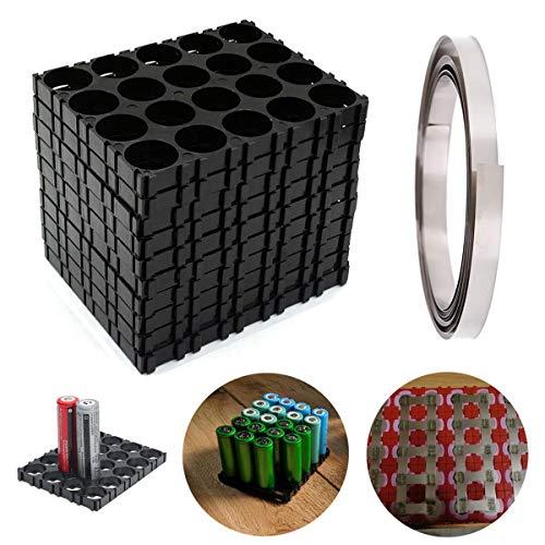 Youmile 10 STÜCKE 18650 Lithium Batteriehalterung Kunststoffhalterung 4x5 Zellen Lithium Batterie Für DIY Baterry Pack + Nickel Streifen