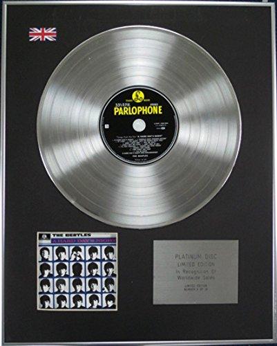 Century Music Awards The Beatles - Disco de disco de platino de edición limitada - A Hard Days Night