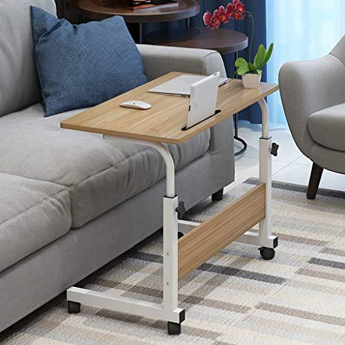 ZXL Laptop tafel Het kan verplaatsen opklapbare bank side nachtkastje nachtkastje tafel in hoogte verstelbaar (kleur: B, grootte: 80 * 40cm)