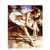 SiJOO Ballerine attachant des Lacets Tula numérique Bricolage numérique Peinture...