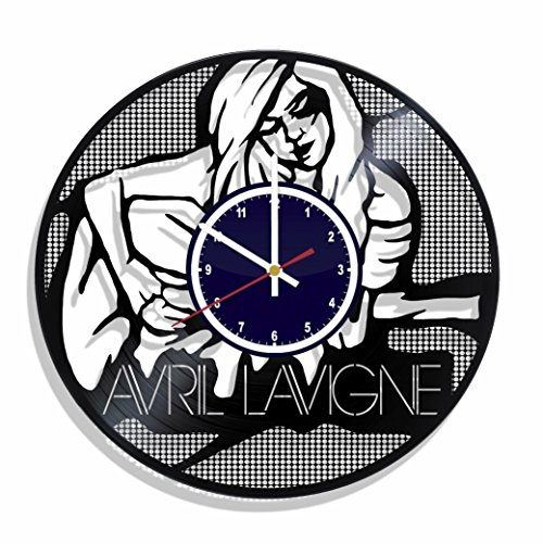 Wall Clock Avril Lavigne Made from Real Vinyl Record, Avril Lavigne Wall Poster, Avril Lavigne Decal, Best Gift for Avril Lavigne Fans