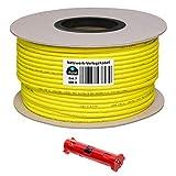 HB Digital Netzwerkkabel LAN Verlegekabel Cabel 100m cat 7 Kupfer Profi + Abisolierer (groß) S/FTP...